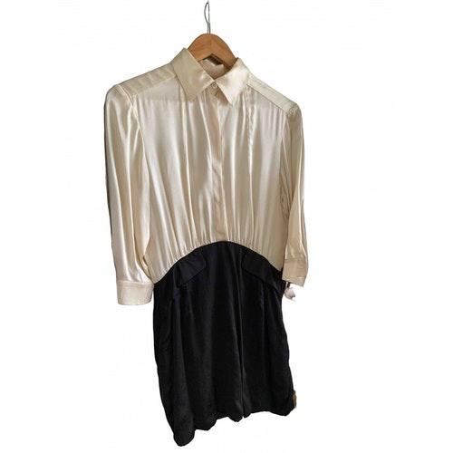 Pierre Balmain Beige Silk Dress