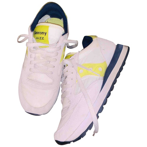 Saucony White Leather Trainers