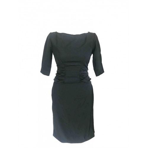 Pierre Balmain Black Wool Dress