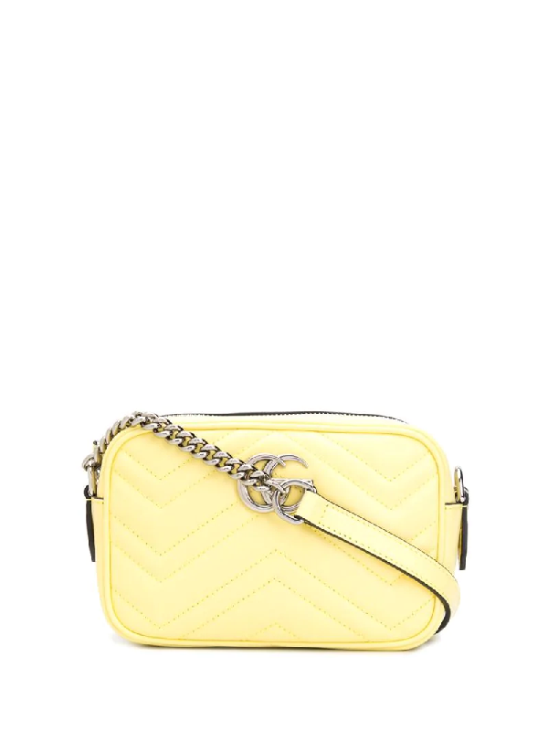 Gucci Gg Marmont Mini Bag In Yellow