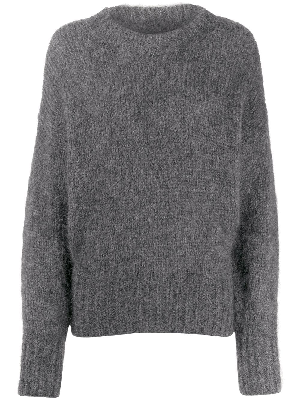 Isabel Marant Knitted Jumper In Grey