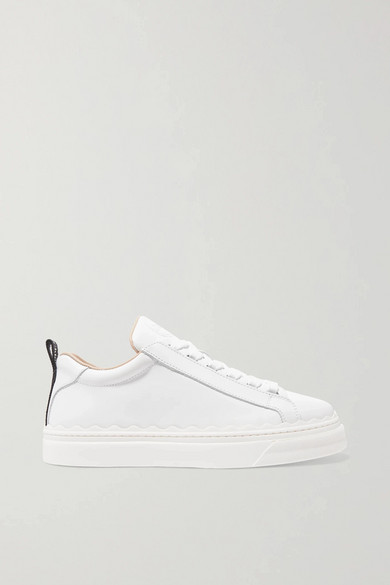 Chloé Low-top Sneakers Lauren Calfskin Logo White