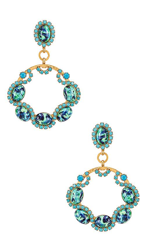Elizabeth Cole Belinda Earrings In Turquoise