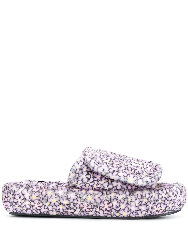 Natasha Zinko Flower Patch Slides In Purple