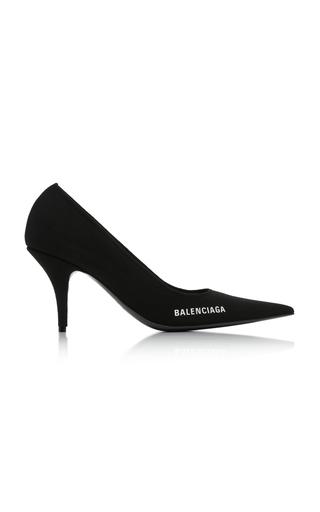 Balenciaga Women's Knife Knit Pointed Toe Pumps In Black