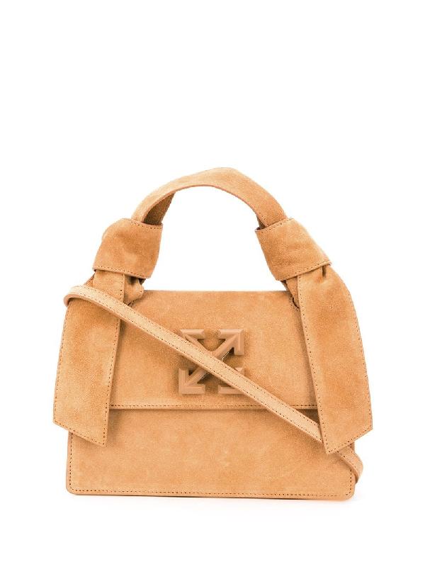 Off-white Arrows-logo Tote Bag In Neutrals