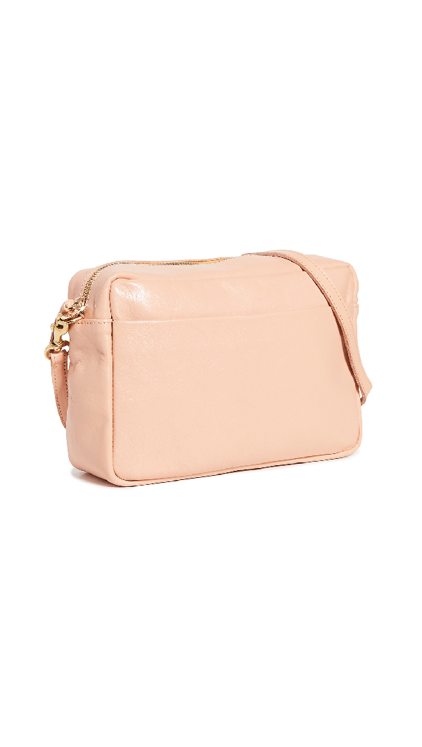 Clare V Marisol Bag With Front Pocket In Pale Pink Rustic