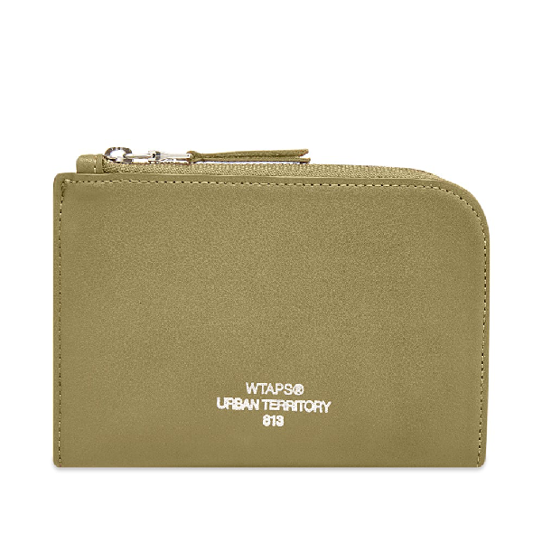 Wtaps Synthetic Leather Case In Green