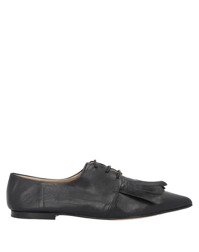 Pomme D'or Laced Shoes In Black