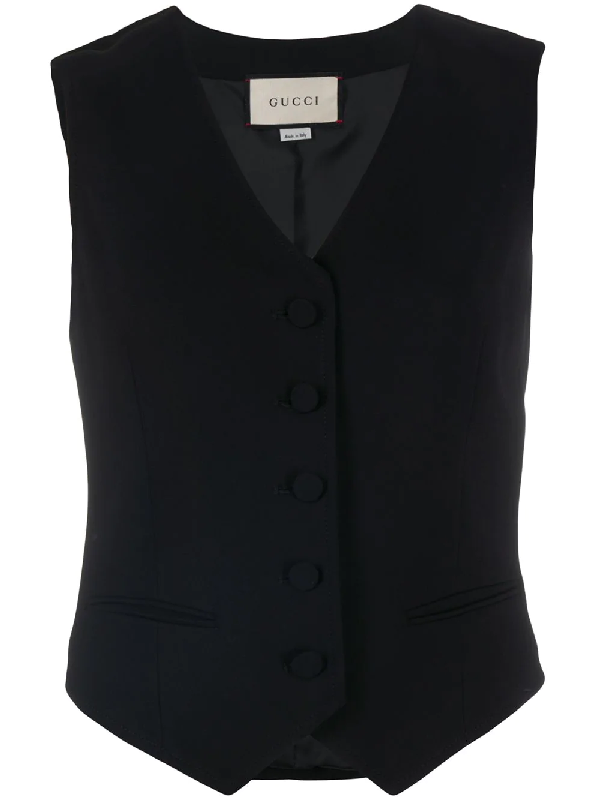Gucci Single-breasted Waistcoat In 黑色
