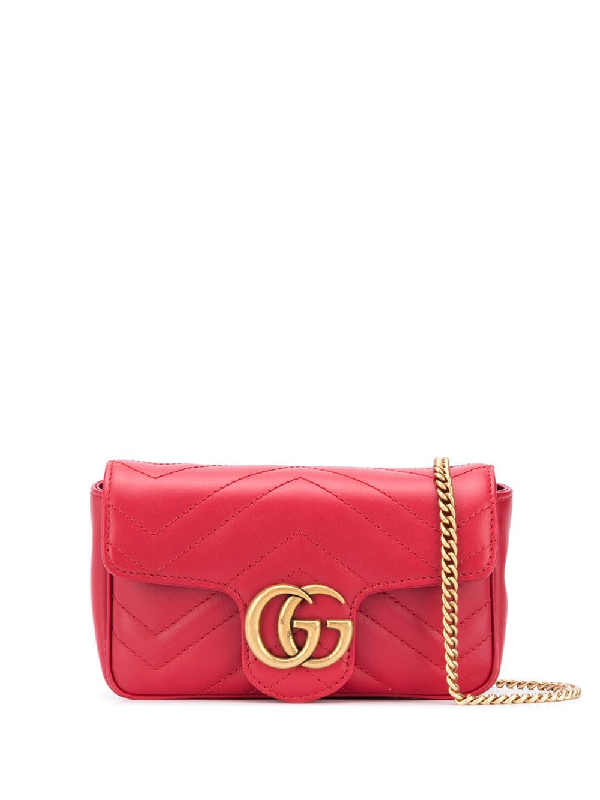 Gucci Gg Marmont Leather Mini Bag