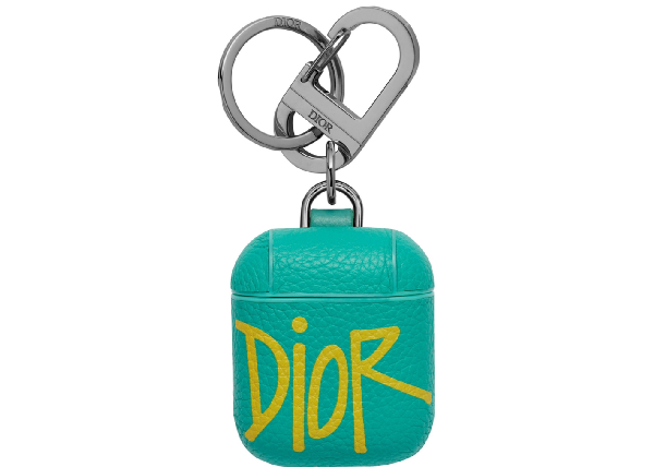 Dior And Shawn Airpods Case Green/yellow