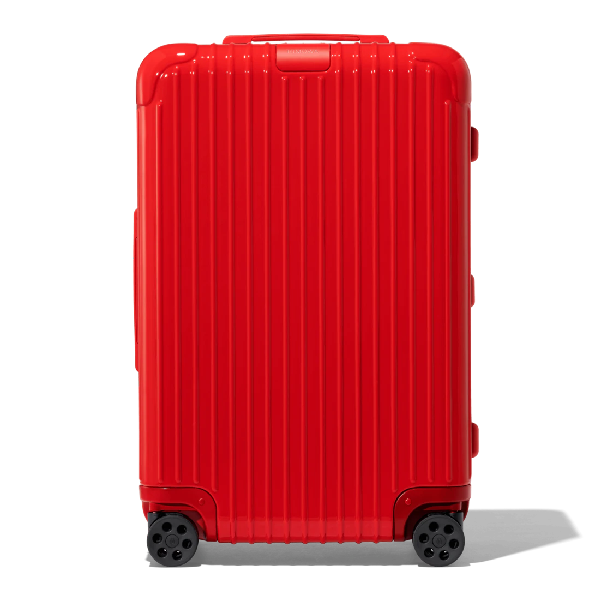 Rimowa Essential Essential Check-in M Suitcase In Red - Polycarbonate - 26,4x17,8x9,5 In Red Gloss