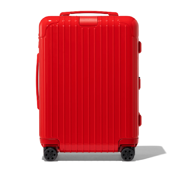 Rimowa Essential Essential Cabin S Carry-on Suitcase In Red - Polycarbonate - 21,7x15,8x7,9 In Red Gloss
