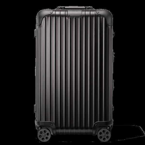Rimowa Original Original Trunk S Suitcase In Black - Aluminium - 25,6x15,35x13,4