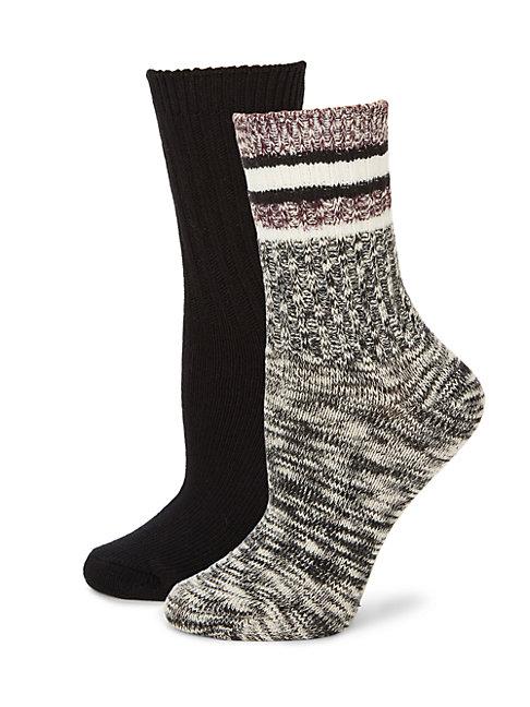 Hue Women's Textured Boot Socks In Black