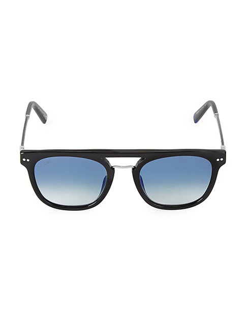 Web 51mm Round Flat Top Sunglasses In Black