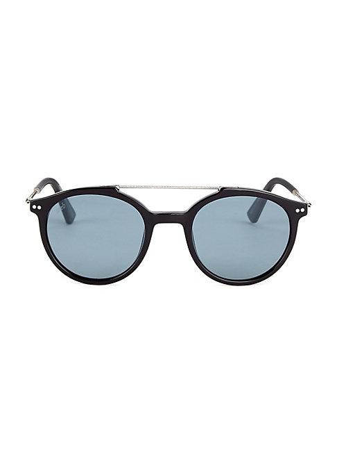 Web 50mm Round Sunglasses In Black