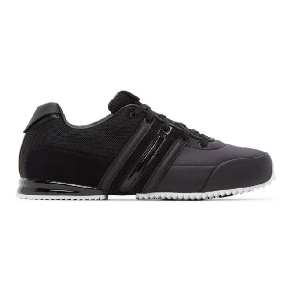 Y-3 Sprint Leathers Trainers Colour: Black In Blk/wht