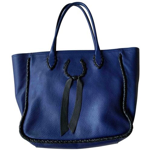 Nina Ricci Blue Leather Handbag