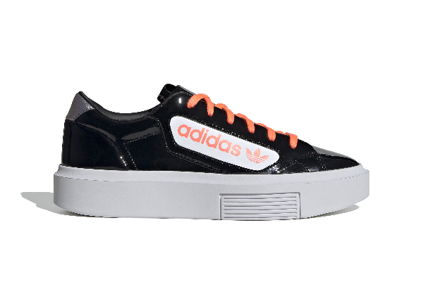 Adidas Originals Adidas Sleek Super Core Black (w) In Core Black/signal Coral/crystal White