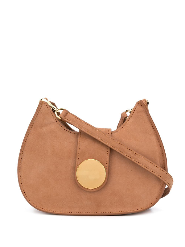 Elleme New Tambour Crossbody Bag In Brown