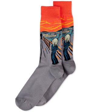 Hot Sox Men's Socks, The Scream