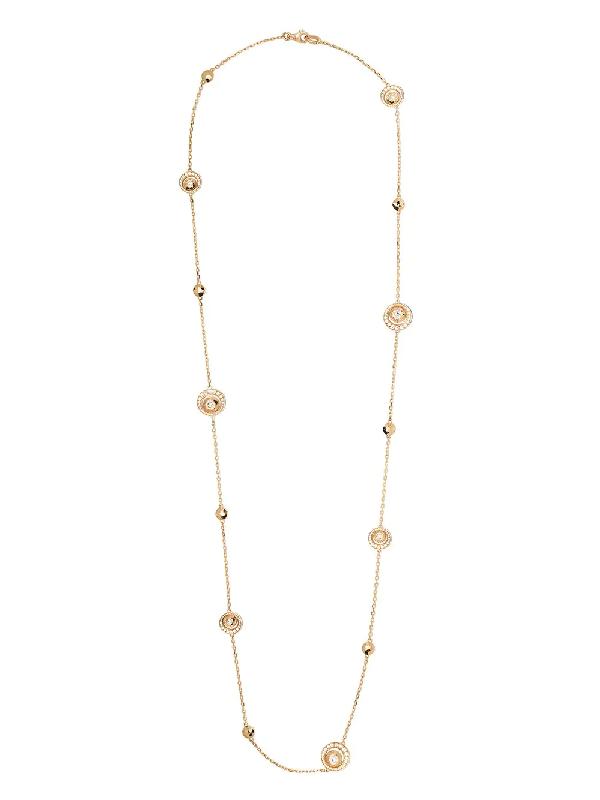 David Morris 18kt Rose Gold Diamond Rose Cut Forever Sautoir Necklace