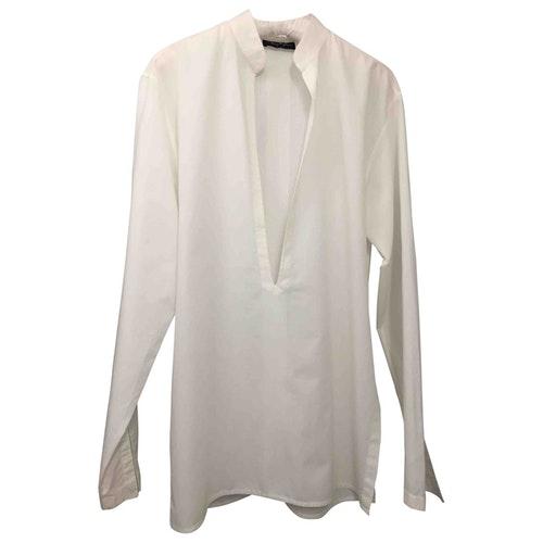 Mugler White Cotton Shirts