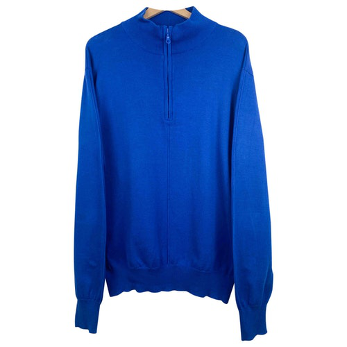 Mugler Blue Cotton Knitwear & Sweatshirts