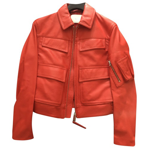 Alyx Red Leather Leather Jacket