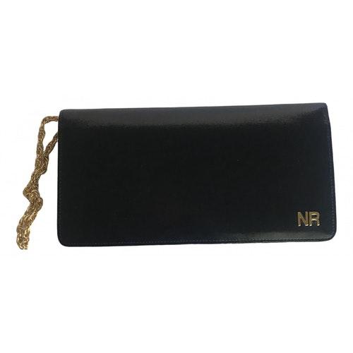 Nina Ricci Black Leather Clutch Bag