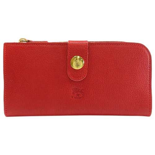 Il Bisonte Red Leather Wallet
