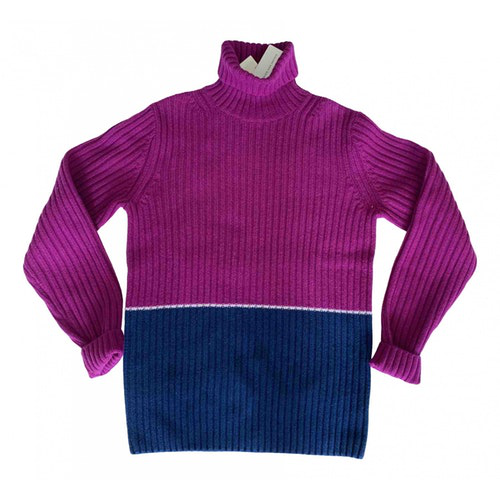 Dries Van Noten Purple Wool Knitwear