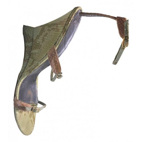 Emanuel Ungaro Multicolour Python Sandals