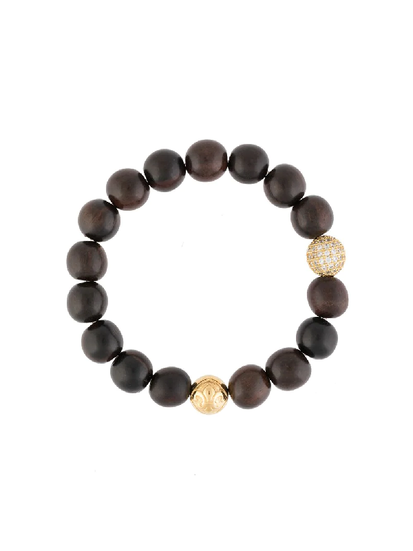 Nialaya Jewelry Wooden Bead Bracelet In Brown