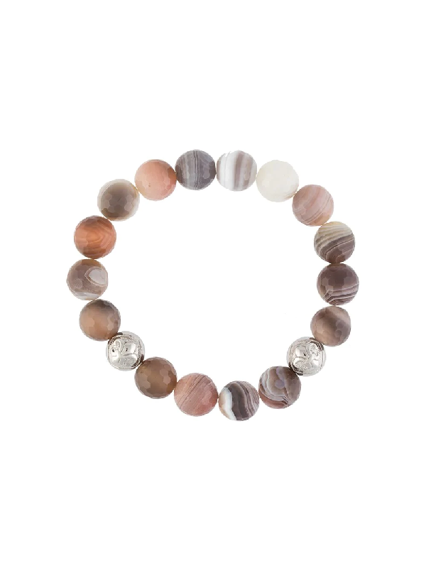 Nialaya Jewelry Beaded Stones Bracelet In Multicolour