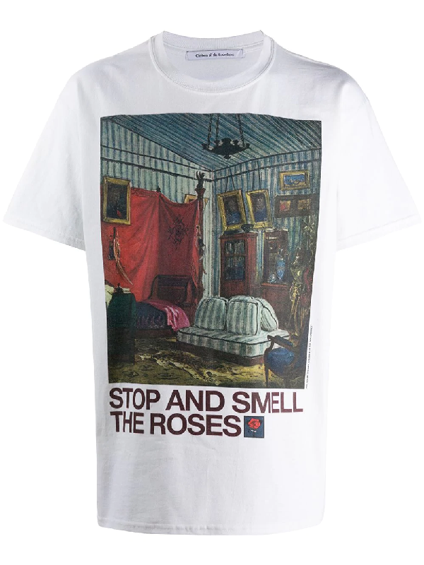 Children Of The Discordance Smell The Roses T-shirt In White
