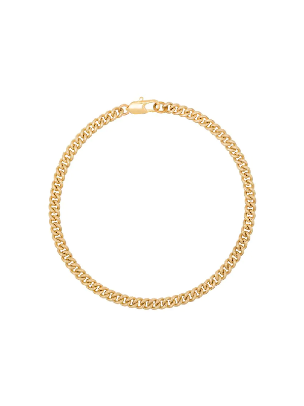 Laura Lombardi Gold-plated Curb Chain Anklet
