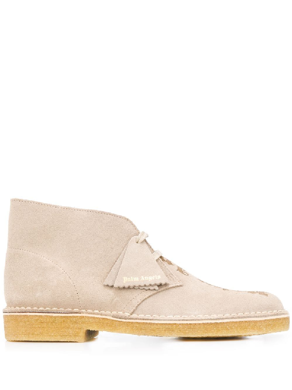 Palm Angels X Clarks Pa Desert Boots Pmia050e20lea001 In Neutrals