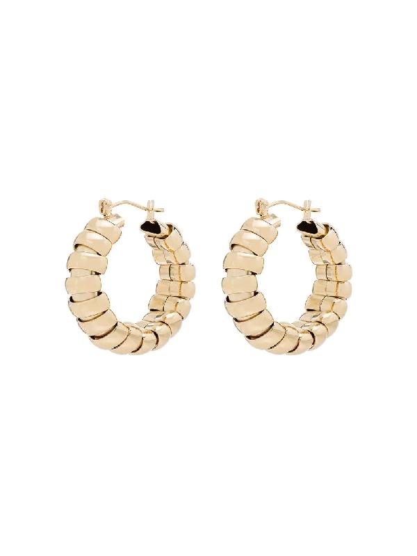 Laura Lombardi 14kt Gold-plated Camilla Hoop Earrings
