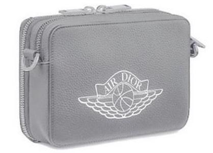 Dior X Jordan Wings Messenger Bag Grey