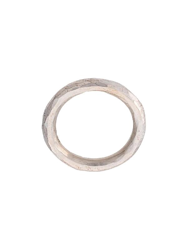 Werkstatt:münchen Classic Hammered Ring In Silver