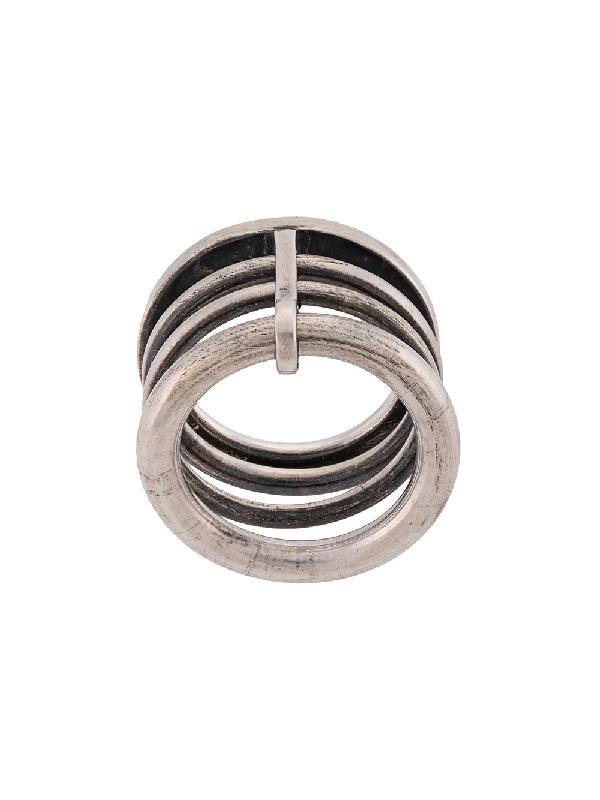Werkstatt:münchen Railing Stack Ring In Silver