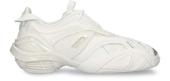 Balenciaga Tyrex Panelled Faux Leather And Mesh Sneakers In 9000white