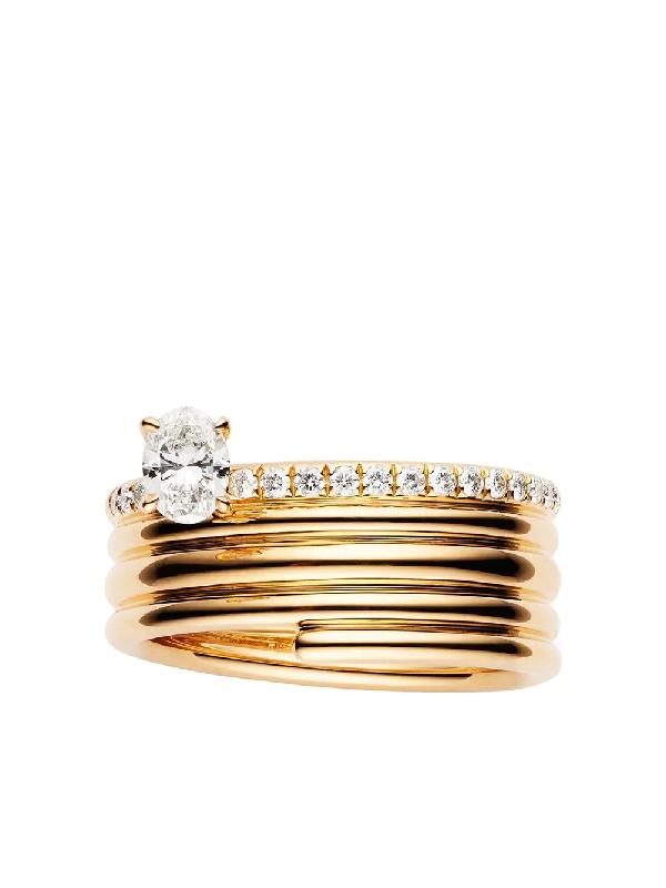 Repossi 18kt Rose Gold Blast Diamond Ring