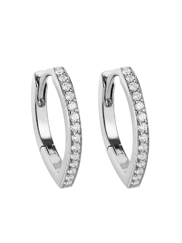 Repossi 18kt White Gold Antifer Diamond Huggie Earring In Silver