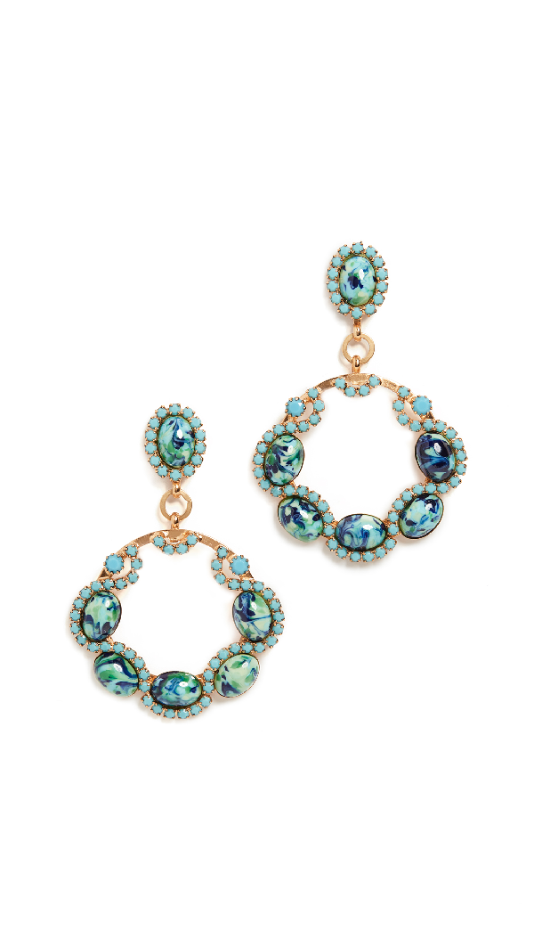 Elizabeth Cole Belinda Earrings In Turquoise
