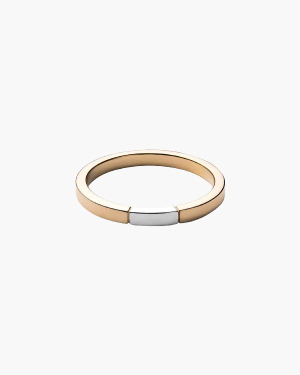 Miansai Panel Ring In Yellow Gold