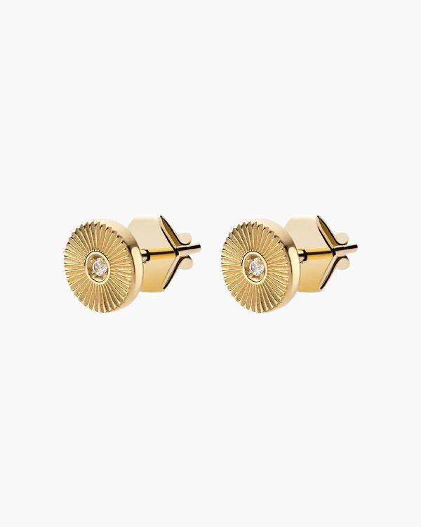 Miansai Rey Stud Earrings In Yellow Gold